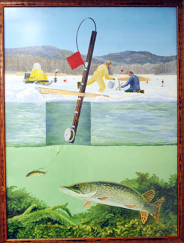 Ice fishing for perch bass pickerel and blue gills for Ice fishing games free
